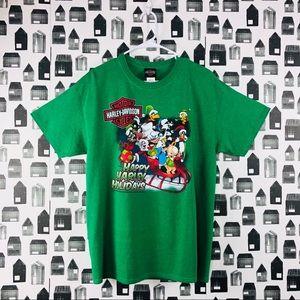 Harley Davidson   Looney Toons Holiday T-shirt